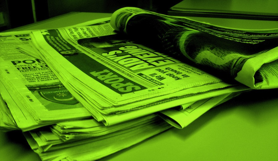 Newspaper forest green by NS Newsflash/Jon S