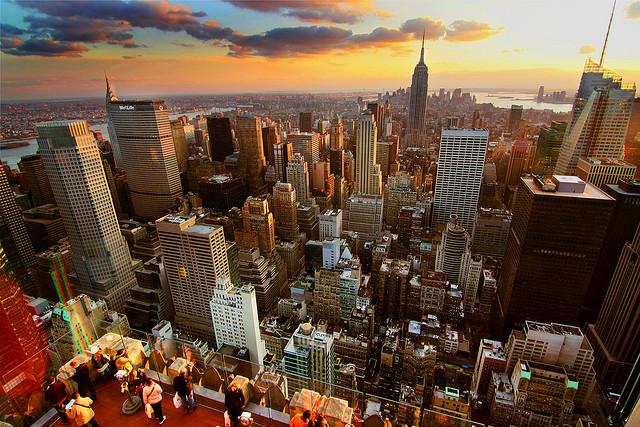New York Sunset - HDR by Jerry Ferguson