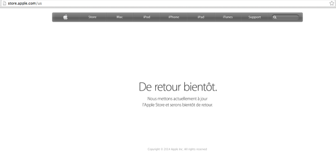 Meanwhile AppleStore on the web is still down 90-minutes later
