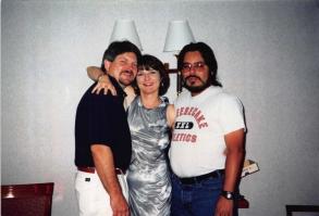 1998-07 Vegas - creagan, silver dress and me