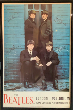 The Beatles - Command Performance poster, photograph by Joe Bustillos