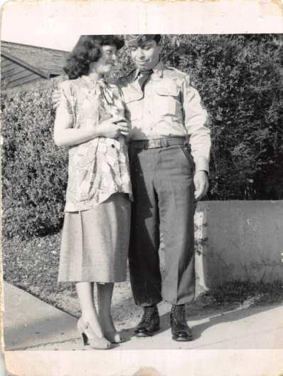 1951-03 Pregnant Josie & Sargent Ben
