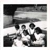 Circa 1951 - baby kathie and cousins