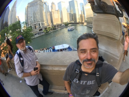 2017-07-22 Chicago River near Wrigley Building (Chicago IL) with Greg Thompson