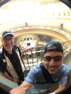 2017-07-23 Wisconsin Capitol Rotunda Madison WI with Greg Thompson